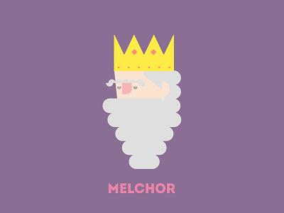 King Melchor portrait design illustration