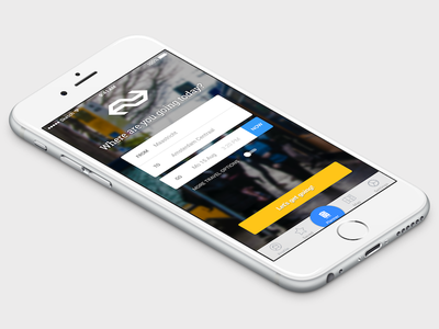 Where are you going today? design sketchapp mockup iphone ios sketch app application transport public dutch ns