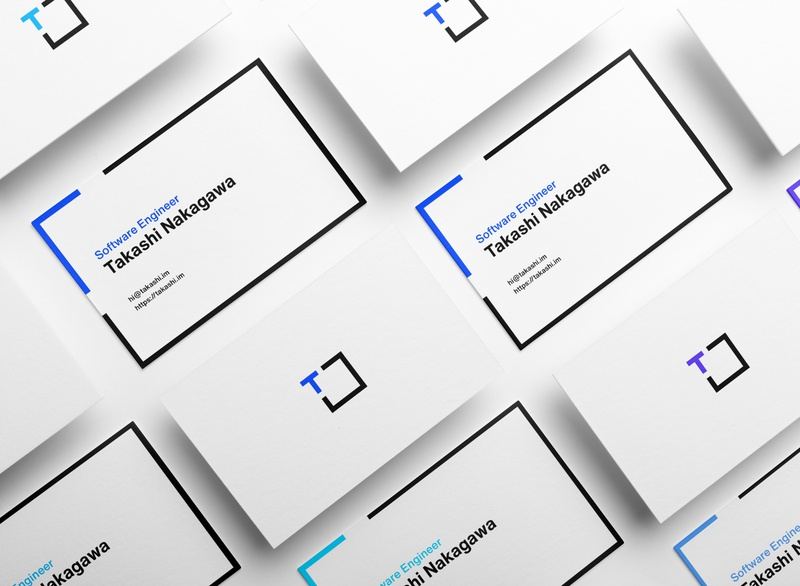 Visual Identity of Takashi Nakagawa businesscard visual identity branding brand