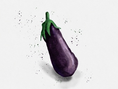 Eggplant 🍆 illustrations illustration painting watercolor