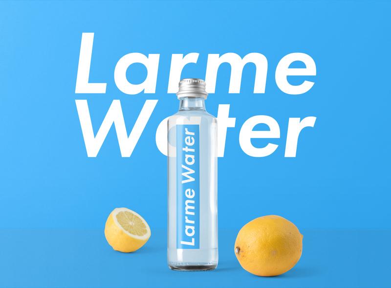 Larme Water mockup typography brand branding logo
