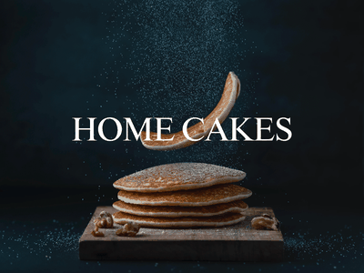 HOME CAKES magazine mockup typography brand branding logo