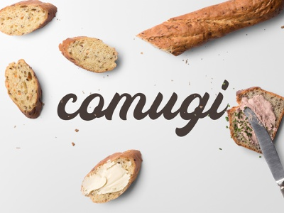 comugi typography branding brand logo