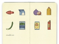 Food ingredients postcard