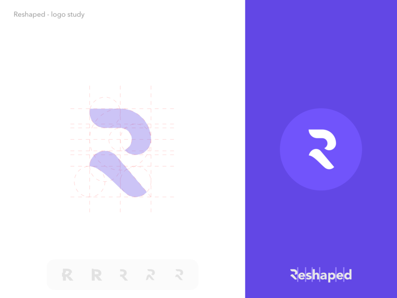 Reshaped logo study agency digital web grid identity illustration typography icon design vector symbol mark logo brand branding