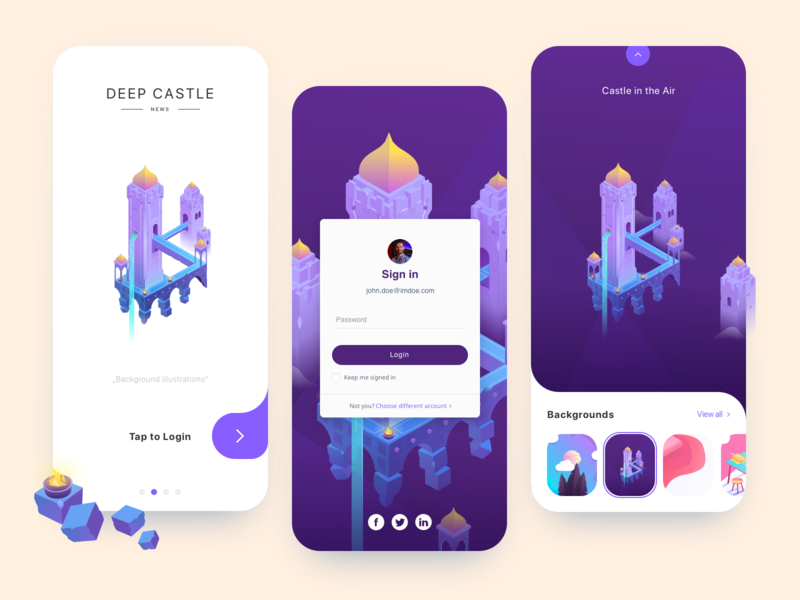 Mobile login illustration