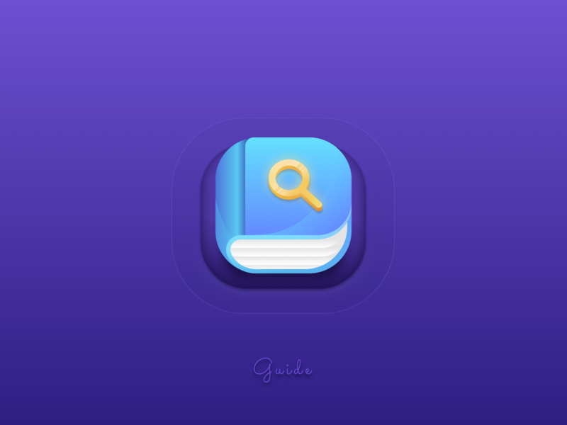 How to: Guide icon tutorial icons help sketch howto tutorial document guide gradient app vector interface web ui icon logo illustration concept colourful book 2d