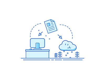 Migration Tool cloud website web server lines illustration icon tool migration
