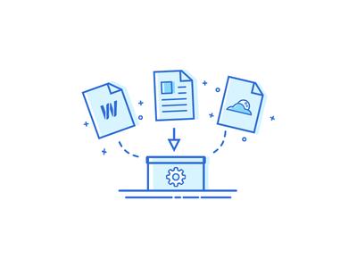 Migration Script website web tool server migration lines illustration icon script