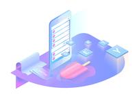 iceChat App illustration