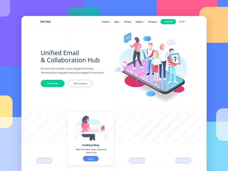 Corporate Website ux designs technology character 2d website flat typography branding gradient vector icon illustration layout grid interface ui design site web