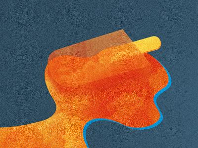 Ice cream (detail illustration) orange pixel illustration illu icecream