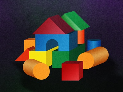 Play at home stayhome photoshop illustrator illustration artwork toy design toy playful colors colorful play