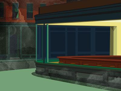 Hopper's quarantine artist hopper painting art direction illu illustrator quarantine bar empty artwork art illustration