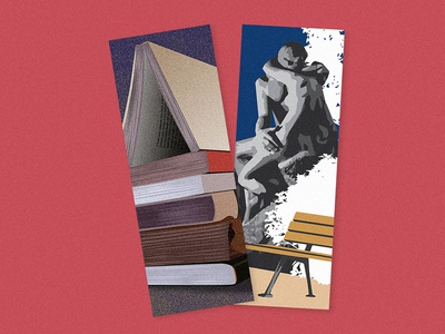 Bookmarks books statue illustration design illu design print illustration bookmarks bookmark