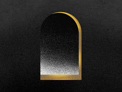 Window at night asleep dots mood atmosphere illustrator illustration digital stars night gold black noise illustration art window illustration