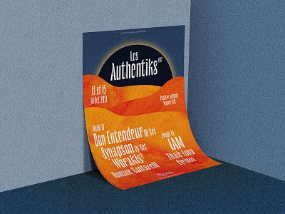 Festival les Authentiks / Poster mockup moon desert festival graphic design illustrator illu print illustration poster