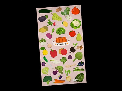 Seasonal fruits and vegetables - October