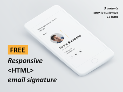 FREE responsive HTML email signature html email html email signature responsive email signature responsive email email signature free