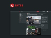 Trybe.one - feed UI design experimentation