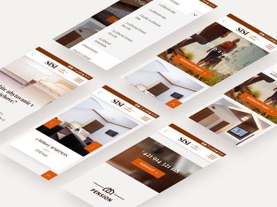 Sisi - Branding and unified web design - mobile screens mobile hotel design branding hotel branding