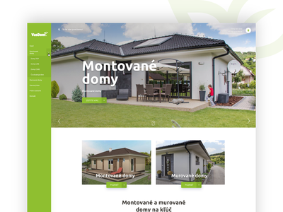 Homepage for seller of prefabricated ecological homes.
