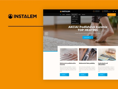 Instalem.sk - heating and cooling services construction flooring heating technical industrial website web