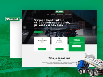 VSmont.sk - website for tipping body manfucaturers wordpress green machinery website heavy machinery website manufacturing website manufacturing tipping body