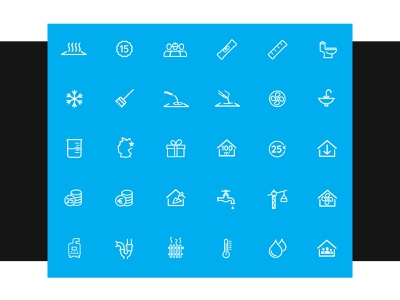Instalem iconset custom icons drawing icons plumbing water heating iconsent icons