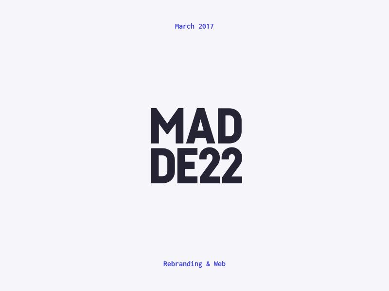 Madde 22 Logo vector white blue typography type minimal logo design branding