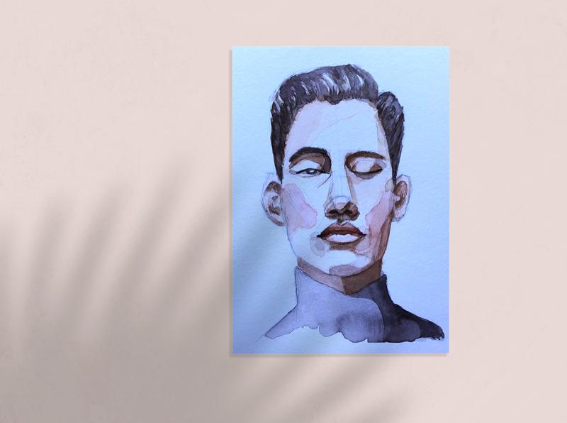#100faces challenge portrait watercolor design illustration
