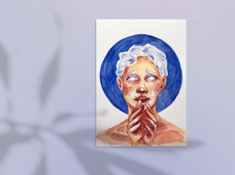 #100faces challenge portrait illustration design