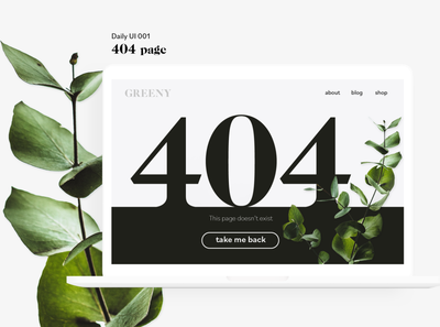 Daily UI 001 404page ui design