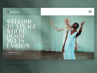 Daily UI project 004 branding typography website design web design webdesign fashion design