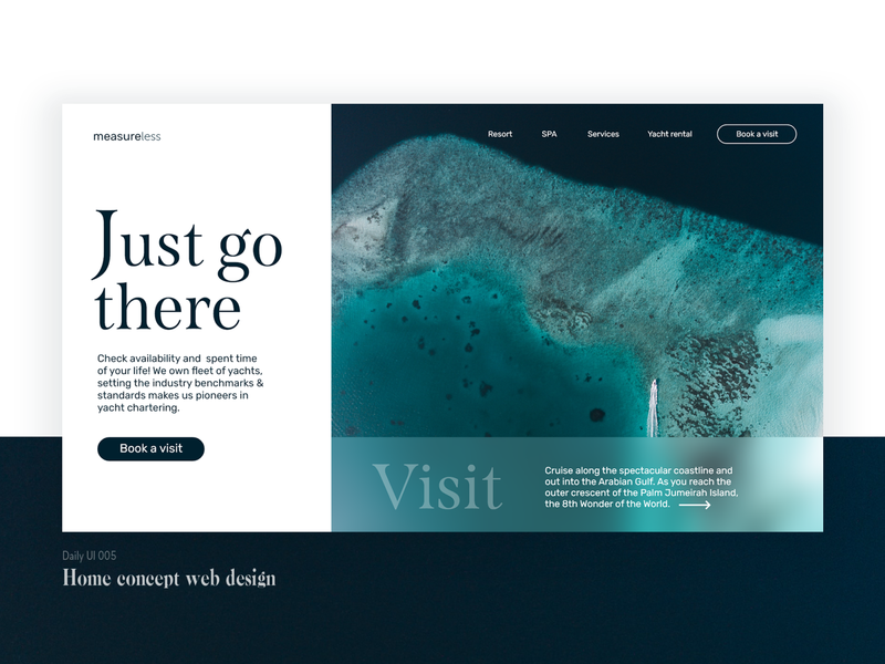 Daily UI project - home web design concept. webdesign ux branding ui design