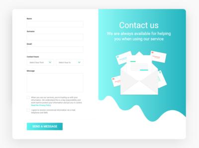 #018 UI challenge contact form webdesign vector illustration typography ux ui design