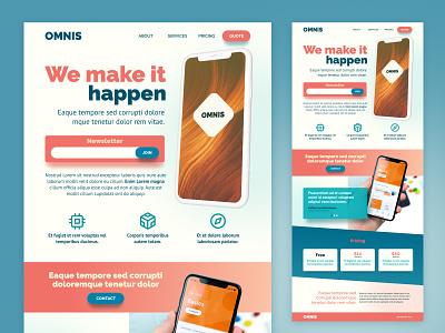 Daily UI Challenge :: 003 - Landing page branding react form vector dailyui landing page landing orange ui