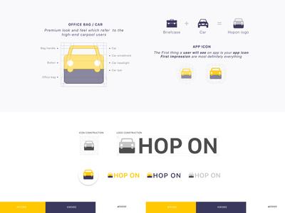 HOP ON  - Office car pooling app logo