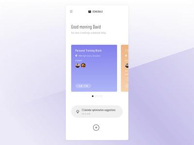 Daily UI - #071 - Schedule Design dailyui