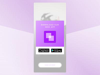 Daily UI - #074 - Download App dailyui