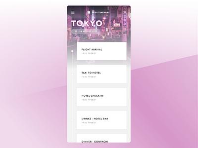Daily UI - #079 - Itinerary dailyui