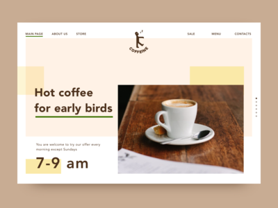 Landing page for Daily Ui 003 caffe coffee dailyui dailyui100