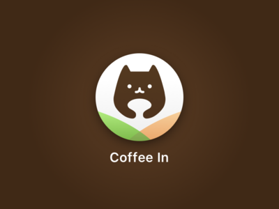 Coffee In app logo for Daily Ui 005 challenge coffee icon cat dailyui dailyui100