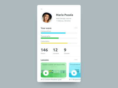 Social Profile for Daily Ui 006 challenge mobile social profile dailyui dailyui100