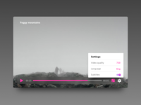 Settings for video player Dailyui 007