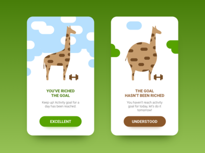 Positive and negative messages Daily Ui 011 pop up giraffe daily ui error