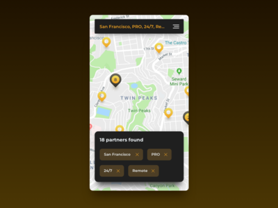 Map search for Daily Ui 020