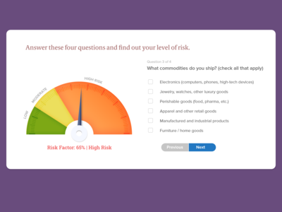 Risk Calculator for Shipping Insurance Quotation