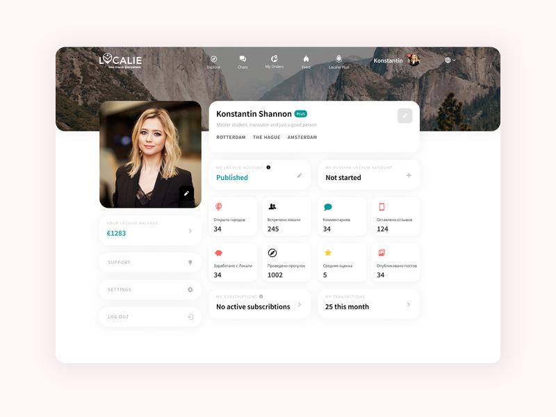 Localie 3.0 Profile Redesign profile ui app branding dashboard ui travel webdesign figma typography uidesign ui  ux design
