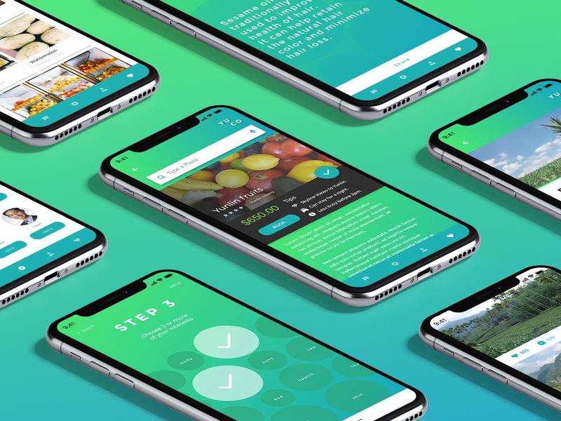 YUCO ux strategy uidesign app branding localization ecology ui  ux design ux